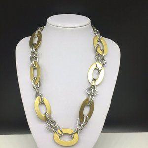 Premier Designs Silver Gold Tone Chain Necklace